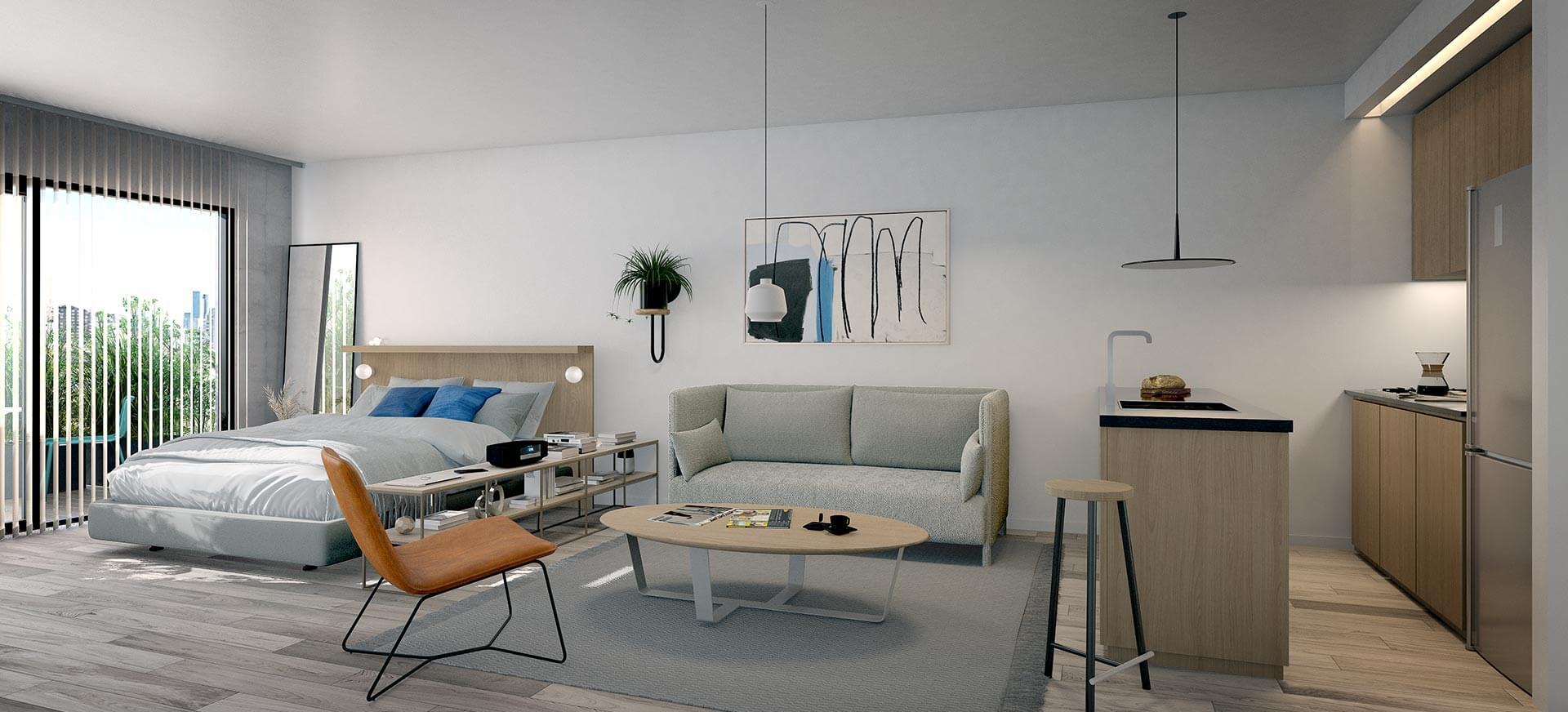 Departamento Monoambientes con Balcón - Superficie Total: 36 m2