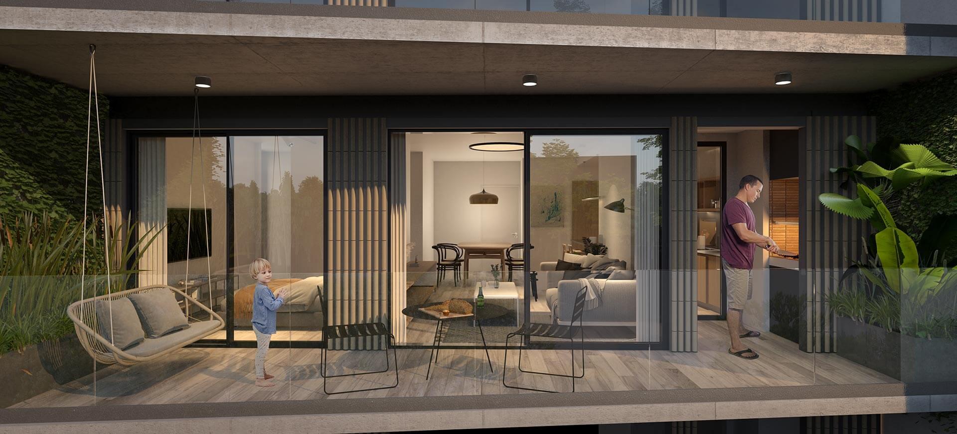 Departamento 3 Ambientes con Balcón Terraza y Parrilla - Superficie Total: 80m2